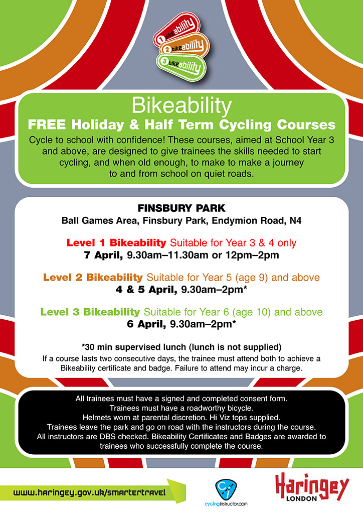 Bikeability EASTER 2017 Page 1