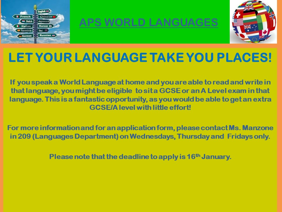 let your language
